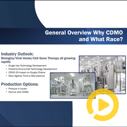 """""""What to look for in a CDMO selection, and how to stand out in the race"""""""